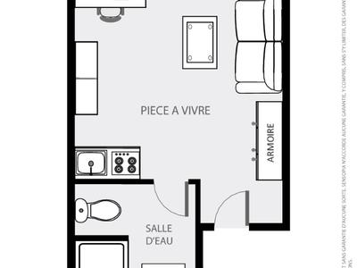 Appartement, 20,05 m²