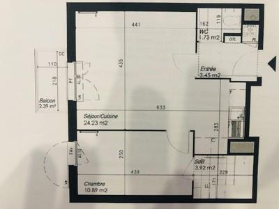 Appartement, 44,22 m²