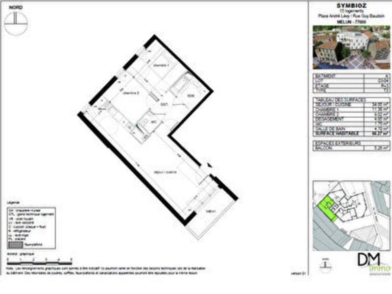 Appartement, 66,27 m²