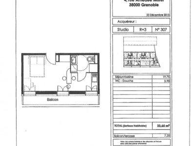Appartement, 23,65 m²