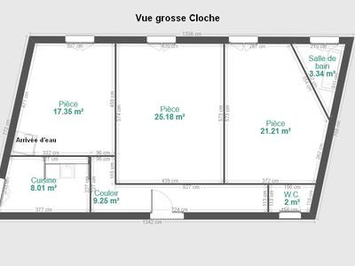 Appartement, 86,49 m²