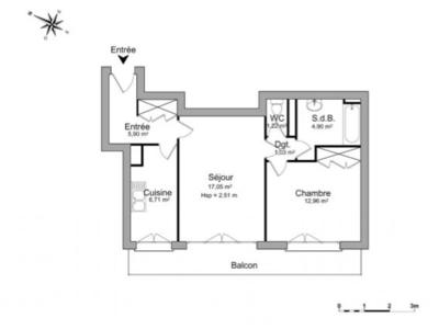 Appartement, 49,77 m²
