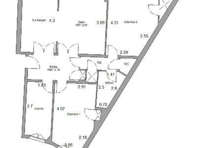 Appartement, 73,43 m²