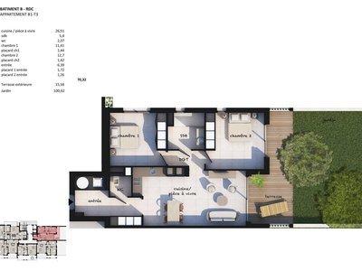 Appartement, 70,32 m²