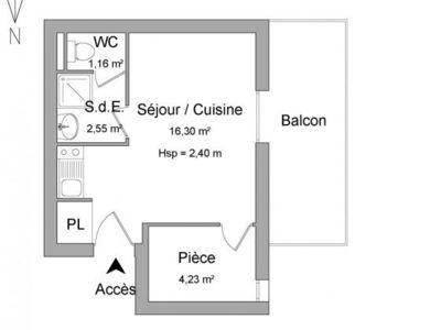 Appartement, 24 m²