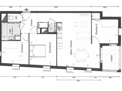 Appartement, 73,22 m²