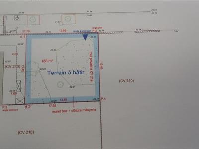 Terrain, 186 m²