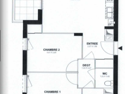 Appartement, 62,57 m²