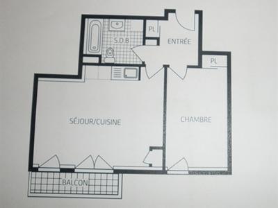 Appartement, 45,45 m²