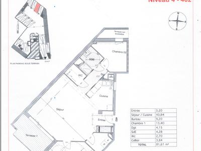 Appartement, 92,22 m²