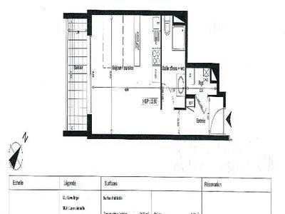 Appartement, 32,6 m²