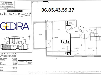 Appartement, 59,09 m²