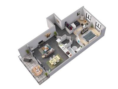 Appartement neuf, 65,04 m²