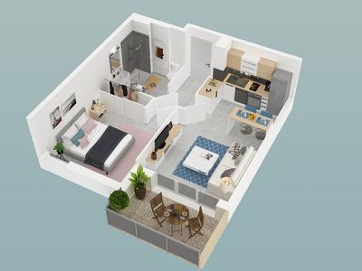 Appartement neuf, 60,3 m²