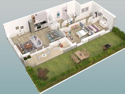 Appartement neuf, 43,65 m²