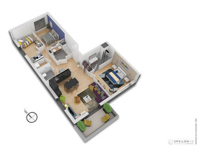 Appartement neuf, 91,81 m²