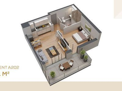 Appartement neuf, 75,35 m²