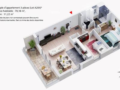Appartement neuf, 90,32 m²