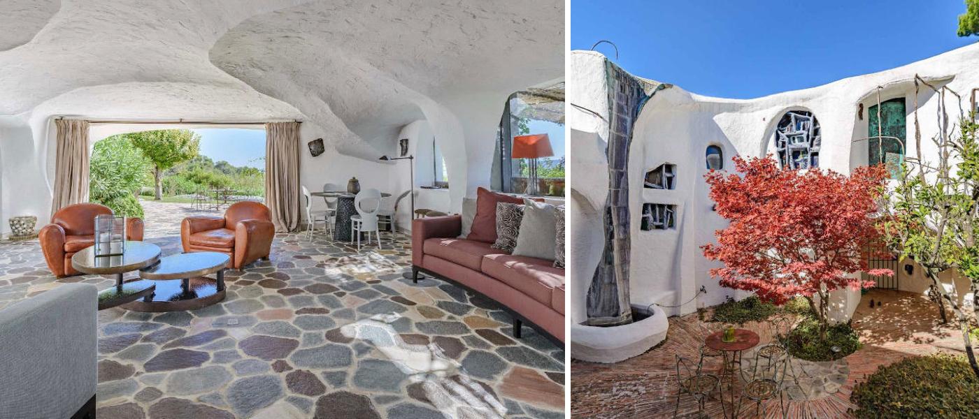 Une maison d'architecte très originale du célèbre architecte Jacques Couëlle près de Cannes